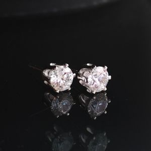 NWT cubic CZ stud earrings solitaire